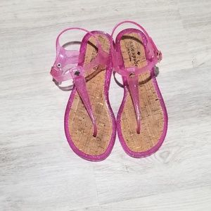Kate Spade pink jelly sandals